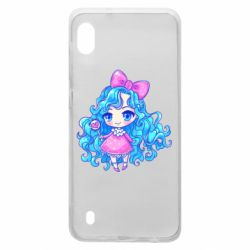 Чохол для Samsung A10 Doll with blue hair