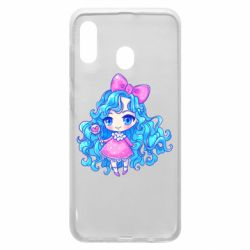 Чохол для Samsung A30 Doll with blue hair