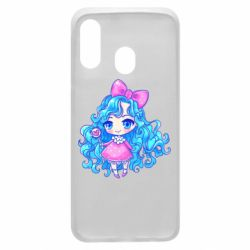 Чохол для Samsung A40 Doll with blue hair