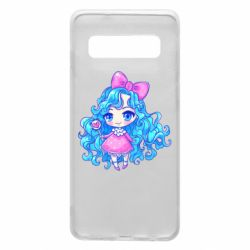Чохол для Samsung S10 Doll with blue hair