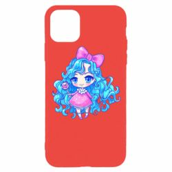 Чохол для iPhone 11 Pro Doll with blue hair