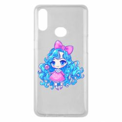 Чохол для Samsung A10s Doll with blue hair