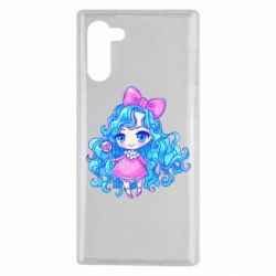 Чохол для Samsung Note 10 Doll with blue hair