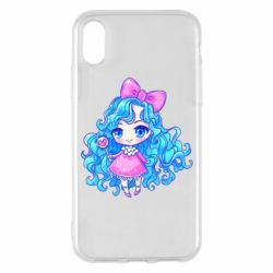 Чохол для iPhone X/Xs Doll with blue hair
