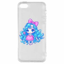 Чохол для iphone 5/5S/SE Doll with blue hair