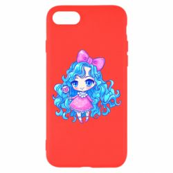 Чохол для iPhone 8 Doll with blue hair
