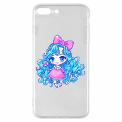 Чохол для iPhone 8 Plus Doll with blue hair