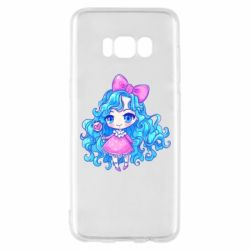 Чохол для Samsung S8 Doll with blue hair