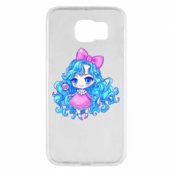Чохол для Samsung S6 Doll with blue hair