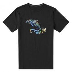 Чоловіча стрейчева футболка Dolphin tattoo