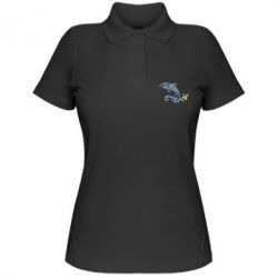 Жіноча футболка поло Dolphin tattoo
