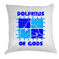 Подушка Dolphins of god