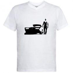 Мужская футболка  с V-образным вырезом Доминик Торетто