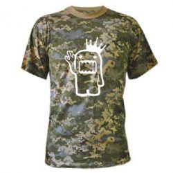 Камуфляжная футболка Домо Кун с короной - FatLine