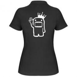 Женская футболка поло Домо Кун с короной - FatLine