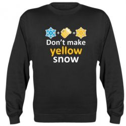 Реглан (свитшот) Don't Make Yellow snow - FatLine