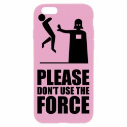 """Чехол для iPhone 6/6S """"Don't use the forse"""""""
