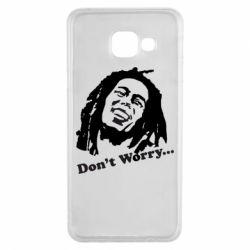 Чехол для Samsung A3 2016 Don't Worry (Bob Marley)
