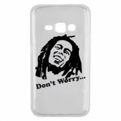 Чехол для Samsung J1 2016 Don't Worry (Bob Marley)