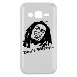 Чехол для Samsung J2 2015 Don't Worry (Bob Marley)
