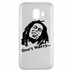 Чехол для Samsung J2 2018 Don't Worry (Bob Marley)