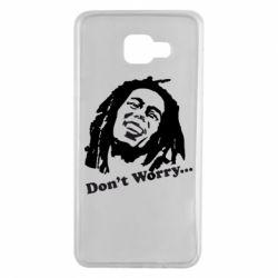 Чехол для Samsung A7 2016 Don't Worry (Bob Marley)