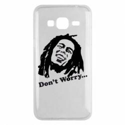 Чехол для Samsung J3 2016 Don't Worry (Bob Marley)