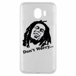 Чехол для Samsung J4 Don't Worry (Bob Marley)