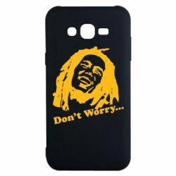 Чехол для Samsung J7 2015 Don't Worry (Bob Marley)