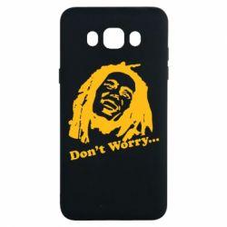 Чехол для Samsung J7 2016 Don't Worry (Bob Marley)