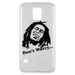 Чехол для Samsung S5 Don't Worry (Bob Marley)
