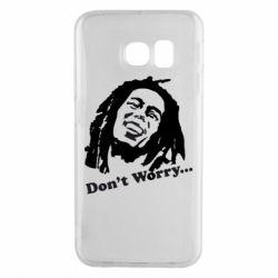 Чехол для Samsung S6 EDGE Don't Worry (Bob Marley)