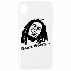 Чехол для iPhone XR Don't Worry (Bob Marley)