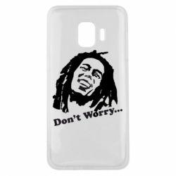 Чехол для Samsung J2 Core Don't Worry (Bob Marley)