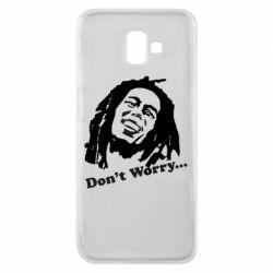 Чехол для Samsung J6 Plus 2018 Don't Worry (Bob Marley)