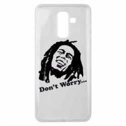 Чехол для Samsung J8 2018 Don't Worry (Bob Marley)
