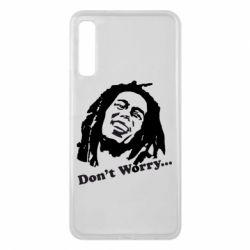 Чехол для Samsung A7 2018 Don't Worry (Bob Marley)