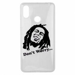 Чехол для Xiaomi Mi Max 3 Don't Worry (Bob Marley)