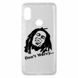 Чехол для Xiaomi Redmi Note 6 Pro Don't Worry (Bob Marley)