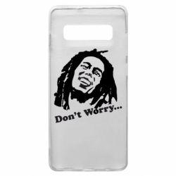 Чехол для Samsung S10+ Don't Worry (Bob Marley)