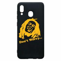 Чехол для Samsung A20 Don't Worry (Bob Marley)