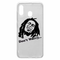 Чехол для Samsung A30 Don't Worry (Bob Marley)