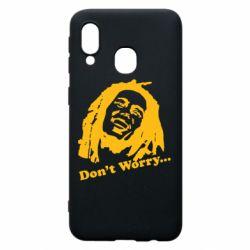 Чехол для Samsung A40 Don't Worry (Bob Marley)