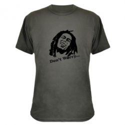 Камуфляжная футболка Don't Worry (Bob Marley)