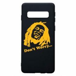 Чехол для Samsung S10 Don't Worry (Bob Marley)