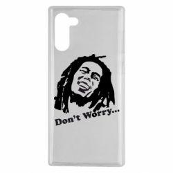 Чехол для Samsung Note 10 Don't Worry (Bob Marley)
