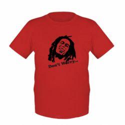 Детская футболка Don't Worry (Bob Marley) - FatLine