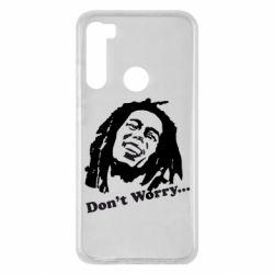 Чехол для Xiaomi Redmi Note 8 Don't Worry (Bob Marley)