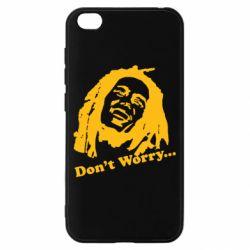 Чехол для Xiaomi Redmi Go Don't Worry (Bob Marley)