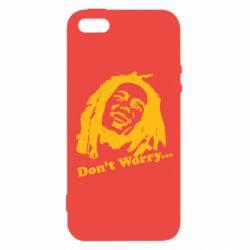 Чехол для iPhone5/5S/SE Don't Worry (Bob Marley)